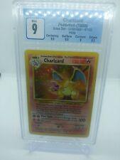 1999 Pokemon Base Set Unlimited Holo Charizard 4/102 CGC 9 MINT (PSA BGS)