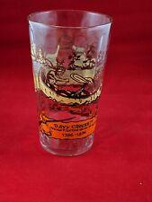 Vintage Davy Crockett Indian Fighter / Hero of Alamo 12 Oz. Ribbed Tumbler Glass