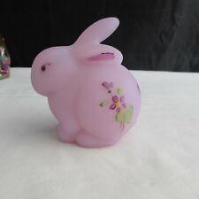 Fenton Lavender Satin Violets Hand Painted Bunny 1978 C2236