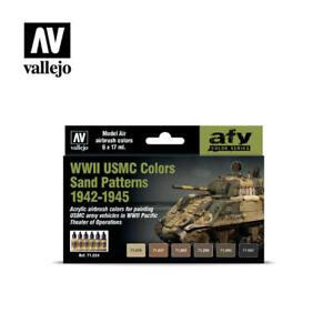 VALLEJO WWII USMC Sand Pattern 1942-45 6x17ml NEW Paints set