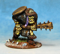 Orc with Spiked Club and shield Warhammer Fantasy Armies 28mm Unpainted Wargames