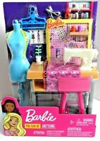 Barbie You Can Be Anything NEW Fashion Designer Sewing Studio Playset Dress Form