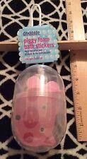 Nwt Gymboree Piggy Foam Bath Stickers Toy Pink Hanging Pod Vintage 2002 Rare Htf