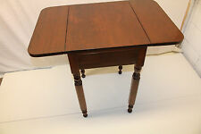 Great American Walnut Drop Leaf Side End Table with Drawer, 19th C.