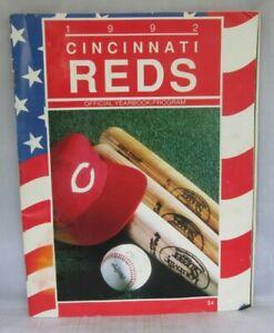 Cincinnati Reds 1992 MLB Baseball Program YEARBOOK w/ 2 Scorecards