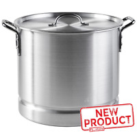 32 Quart Steamer Pot Aluminum Cooking W/ Lid Removable Steam Tray Tamale Crab