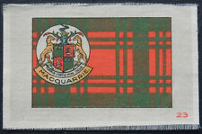 Macquarrie Clan Tartan and Coat of Arms Silk card issued in 1922