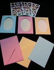 DIY THANK YOU CARD MAKING KIT. 6 cards & envelopes + sticker embellishments etc