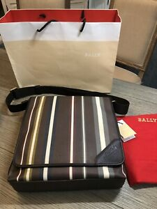 NWT Authentic Bally Messenger Bag with Adjustable Strap