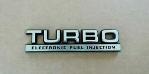 Original 1984-1991 Chrysler-Dodge-Plymouth Turbo EFI Fender Emblem-Badge