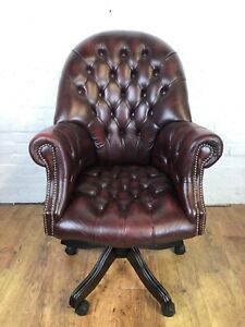 Leather Chesterfield Captain's Office Chair *Delivery Available