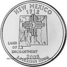 2008 New Mexico State Quarter Philadelphia Denver Mints 2 coin set Unc Ungraded