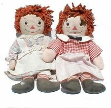 Vintage Raggedy Ann & Andy Two Faces Dolls