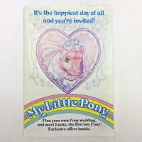 MY LITTLE PONY 1986 Plan Your Pony Wedding Fan Club Order Form