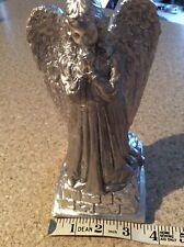 Silver Winged Angel Cherub Garden Ornament Grave Memorial Statue/Home Decoration