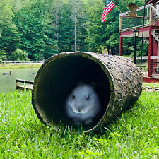 Hidden Hideaway 🌳 Large Weatherproof Hollow Log Hideout for Rabbits & Mammals