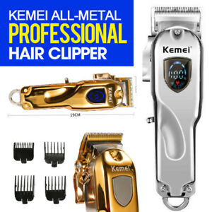 Kemei 1986 Professional Cordless Hair Clipper Trimmer PRO All-metal Gold FX