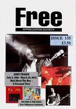 FREE APPREC SOCIETY #135 Aug 2015 Paul Kossoff Rodgers Simon Kirke Andy Fraser