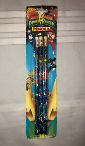 VINTAGE 1993 Mighty Morphin Power Rangers Pencils, Set of 3- New in the package!