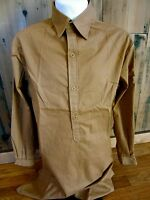 WWII GERMAN WAFFEN BROWN SERVICE SHIRT- LARGE