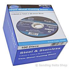 "115mm 4.5"" ULTRA THIN METAL  CUTTING DISC 4 1/2"" STEEL & STAINLESS Bluespot 1mm"