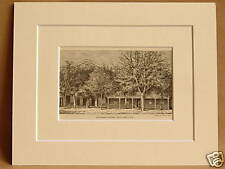 TOWNSEND HOUSE SALT LAKE CITY USA V RARE MOUNTED ENGRAVING FROM 1876 PUBLICATION