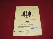 Ford 6000 Commander 6000 Tractor I&T Shop Manual 84PA
