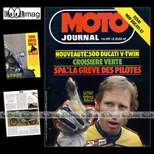 MOTO JOURNAL N°419 DUCATI 900 SS & 500 PANTAH KENNY ROBERTS GRAND PRIX SPA 1979