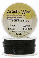 Black Artistic Craft Wire 30 Feet 9.14 Meters Jewelry Beading Crafts 24 Gauge