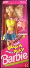 1991 VINTAGE SNAP'N PLAY BARBIE #3550 NRFB!!! MINT!!! WITH SNAP ON FASHIONS!