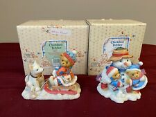 Cherished Teddies set of 2 - Frank & Helen 1998 Fall Catalog Exclusive and Erica