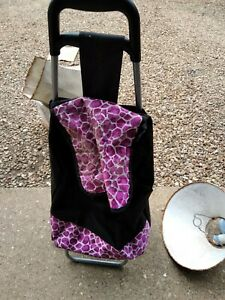 Pink And Black Shopping Trolley for stairs