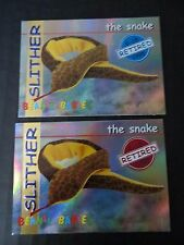 Ty Beanie Babies Bboc Series I S1 ~ Red Blue ~ Retired Card 19 Slither Snake