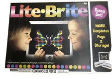 LITE Brite Magic Screen Light Bright Bonus Set 326 Pieces 8 Templates