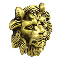 Novelty Vintage Western Belt Buckle 3D Lion Head Indian Cowboy Men Unisex