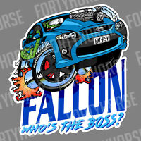 Ford Vinyl Stickers - FG GT Falcon Blue
