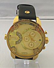Diesel Men's Little Daddy Dual Time Chronograph Gold Dial-Tone Watch - DZ7363