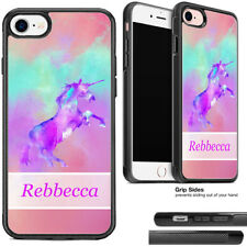 Unicorn Cute Pink Teal Purple Watercolors Phone Case For Apple iPhone Samsung