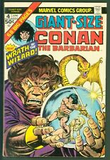 Marvel Comics Giant-Size Conan #4 FINE Dragon Cover from 1975