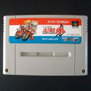 RIDER'S SPIRITS Nintendo Super Famicom NTSC JAPAN・❀・MOTOR CYCLE RACING SFC 走り屋魂