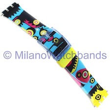 17mm Milano Colorful Cubist Pattern Watch Band Fits Swatch 1245