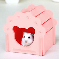 Wooden Pet Hamster House Small Mice Cage Nest Animal Mouse Rat Guinea Pig DB