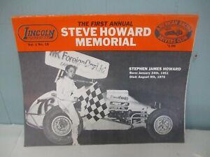 1977Lincoln Speedway Program STEVE HOWARD MEMORIAL