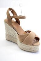 Castaner Womens Suede Blaudell Espadrille Wedge Sandals Tostado Brown Size 37 7