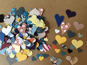 200 Love Hearts Die Cut Punches Scrapbook Embellishments DIY Junk Journal