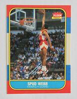 1986-87 FLEER Basketball SPUD WEBB Rookie Card RC #120 EX-NM Atlanta Hawks NBA