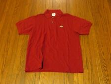 Men's Lacoste Dark Red Polo Shirt sz 4 M