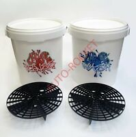 Dodo Juice Car Wash & Rinse Buckets, 20 Litre, Inc's Grit Guard Barriers & Lids
