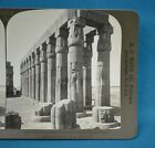 Stereoview Photo Egypt Luxor Temple Court Of Amenophis III HC White