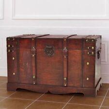 Baule Cassapanca Contenitore in legno Stile Vintage 66x38x40 Marrone